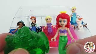 SLIME LEGO Disney princess Toys Frozen Elsa and Anna, Ariel, Rapunzel, Belle, Tiana, Mulan