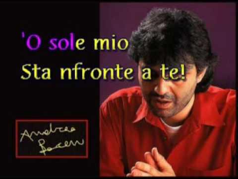 Andrea Bocelli   O Sole Mio De Capua