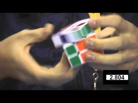 Feliks Zemdegs Rubik's cube (former) world record 5.66 - slow motion