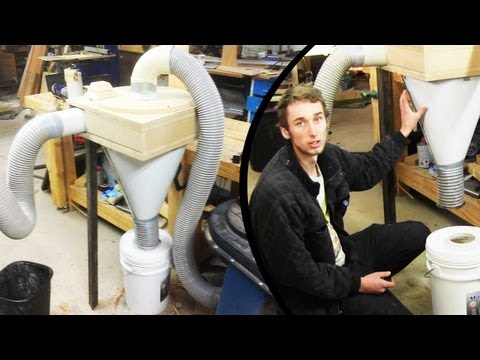 Make a Cyclone dust separator - The test (part 3 of 3) (home made cyclone)