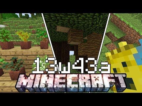 Minecraft ITA - Snapshot 13w43a: Nuovi Tipi di Legno. Alberelli e non Solo!