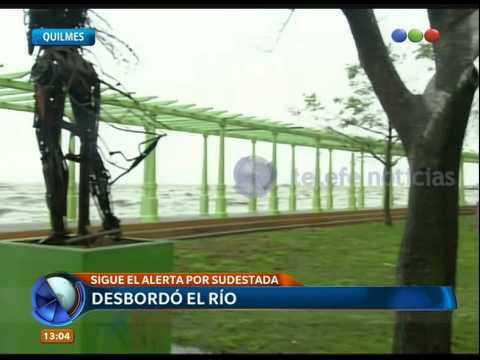 Desbordó el rio en Quilmes - Telefe Noticias
