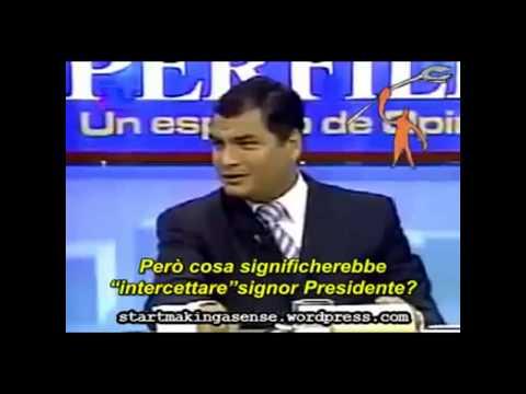 Rafael Correa denuncia Chemtrails en su territorio