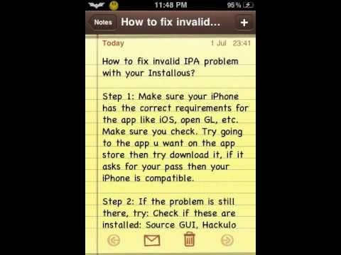 Invalid IPA Error Installous 5 Fixes