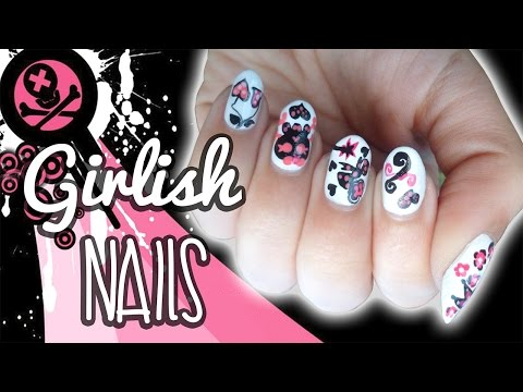 Girlish Skull Nail Art Collaboration ❤