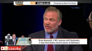 First Take - Brian Bosworth Talks NFL Career, Advice for Jameis Winston
