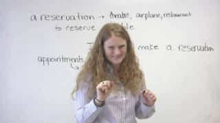 English Vocabulary - Appointments & Reservations