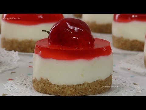 Mini Cheesecakes & Gelatina de Fresa para Mesa de Postres - Recetas en Casayfamiliatv