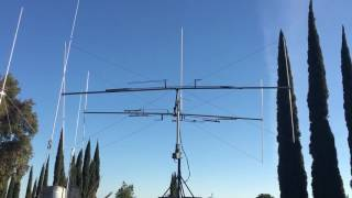 Butternut Butterfly 2-Element 5-Band HF Yagi HF5B on TV antenna rotor