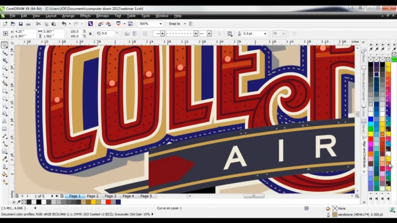 Coreldraw Tutorial Creating Custom Lettering Effects