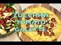 Tomato Zucchini Galette, gluten free, vegetarian cheekyricho cooking video recipe. ep. 1,240