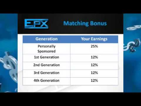 EPX Body compensation plan - monthly commision & matching bonus - unlimited income