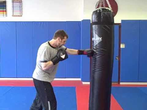 Home Kickboxing Heavy Bag Workout Routine -- 6 minutes Image 1