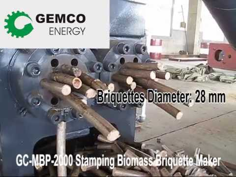 How to make biomass briquettes with GC-MBP-2000 Briquetting Machine