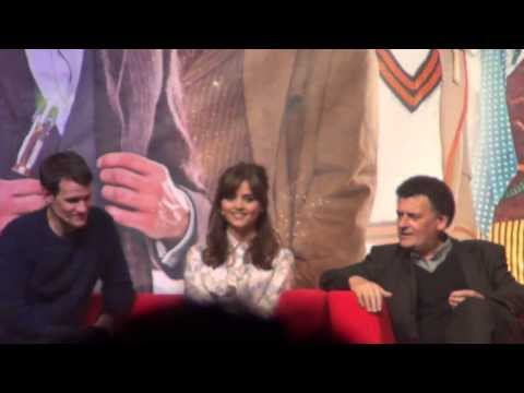 Doctor Who 50th Anniversary Excel Panel  Matt Smith +Jenna-Louise Coleman+Steven Moffat