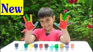 Kids Learn Colors And Sing W/🎨Body Paint 🎨Finger family Nursery Rhymes Songs For kids  HD