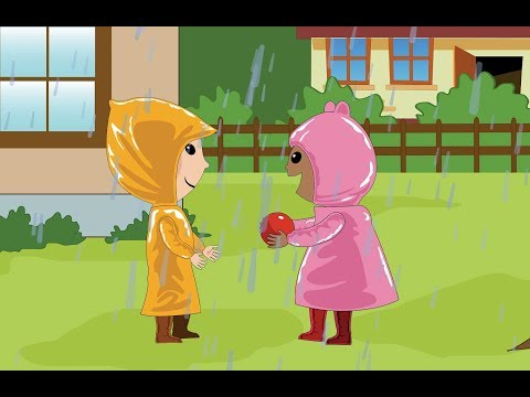 Rain Rain Go Away with lyrics - Nursery Rhyme by EFlashApps
