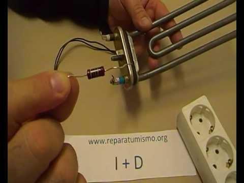 Video didactico como hacer una resistencia derivada a masa for Como funciona una regadera electrica