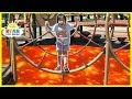 The Floor is Lava Challenge at the Playground Park
