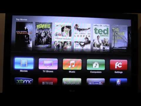 Apple TV 2 Jailbroken with XBMC. How to play free movies and TV Shows!