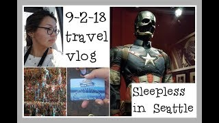Alaskan Goes to Seattle (Marvel Museum, Gum Wall, Great Wheel..) || Sleepless