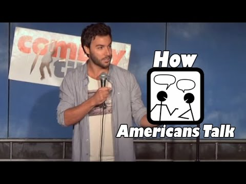 How Americans Talk Stand Up Comedy