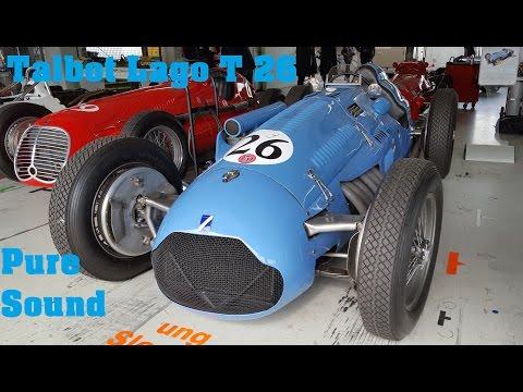 Start Up Talbot Lago T 26, Vintage Grand Prix Racer