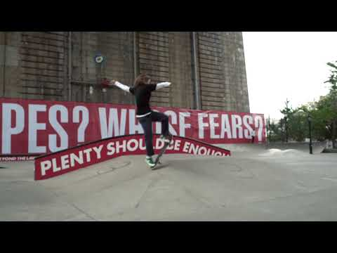 "Barbara Kruger ""Untitled (Skate)"" Coleman Skatepark Installation for the Performa 17 Biennial"