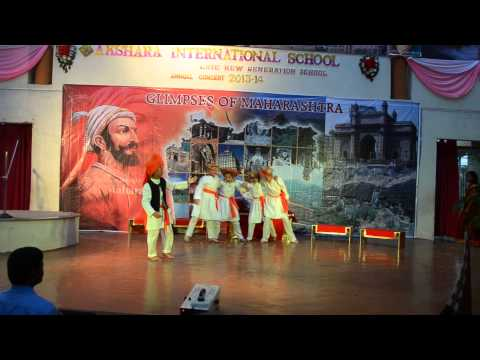 powada of shivaji maharaj(shoubhits annual day in school(akshara...