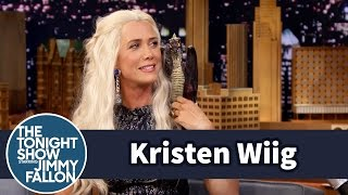 Jimmy Interviews Khaleesi from Game of Thrones (Kristen Wiig)