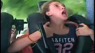 Funny Reaction on Roller Coaster 2