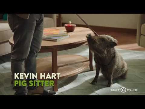 "Kevin Hart Hangs Out with a Total Pig - ""The Secret Life of Pets"""
