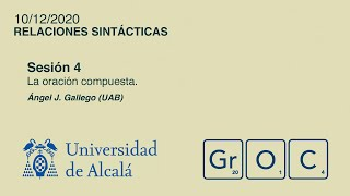 Jornadas GrOC de actualización gramatical - Sesión 4 (10 dic)