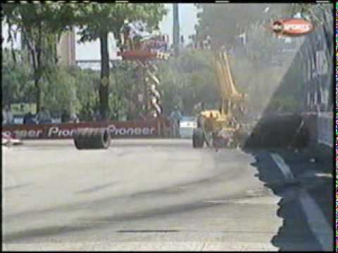 2001 CART Detroit Grand Prix - Oriol Servia crash Video