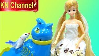BÚP BÊ HÀN QUỐC CHƠI VỚI HẢI CẨU CỦA BÉ NA |  Đồ chơi trẻ em KN Channel