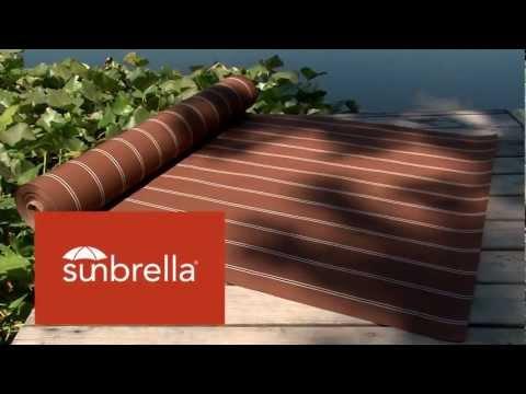 Video of Sunbrella Shafford Ginger Awning Stripe Fabric 4866-0000