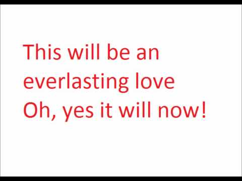 This will be (an everlasting love) - Natalie Cole (with lyrics)
