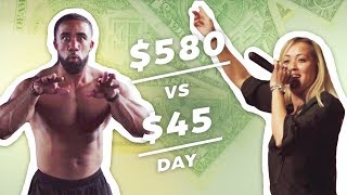 Earning $580 vs $45 In a Day: Rapper & Wrestler