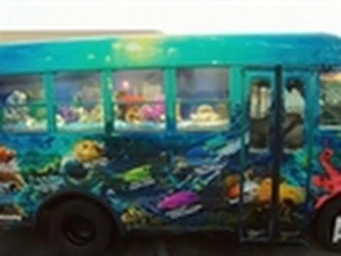 School bus aquarium tanked youtube for Make your own fish tank