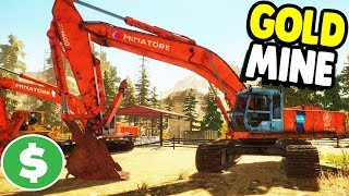 HUGE GOLD MINE STARTS UP  | Gold Rush: The Game Gameplay