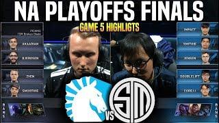 TL vs TSM Game 5 Highlights LCS Playoffs Final - Team Liquid vs Team SoloMid Game 5 Highlights LCS