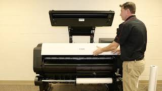 How To Load Media on an imagePROGRAF TX Printer