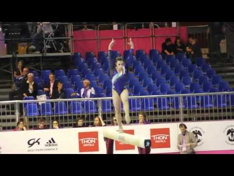 Erika FASANA ITA, Beam, Team Final, European Gymnastics Championships 2012