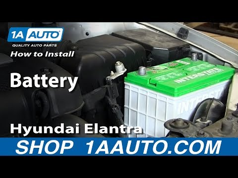 How to Install Replace Change Battery 2001-06 Hyundai Elantra
