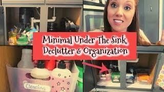 CHEAP/EASY UNDER THE KITCHEN SINK ORGANIZATION (MINIMALIST APPROACH) (COLLAB)