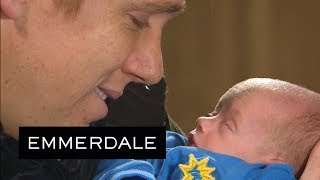 Emmerdale - Robert Makes His New Son a Promise...