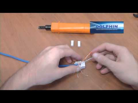 Cat 5e/Cat 6 Punch Down Keystone Jack 90 degree: How To Video