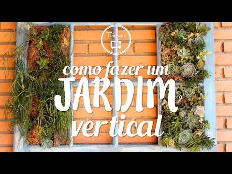 como fazer : jardim vertical de suculentas Fl?via ...
