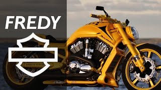 "Harley Davidson V Rod ""Yellow"" by Fredy 