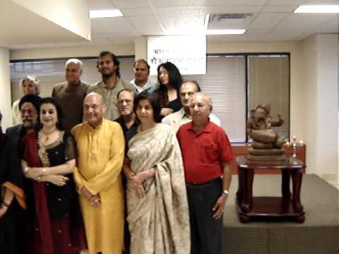 MOV02764 Group Movie of Poets at CGI, Toronto at 'Hindi Divas' celebration by 'Hindi Manch'